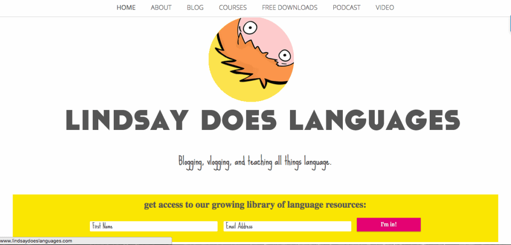 lindsay does languages site